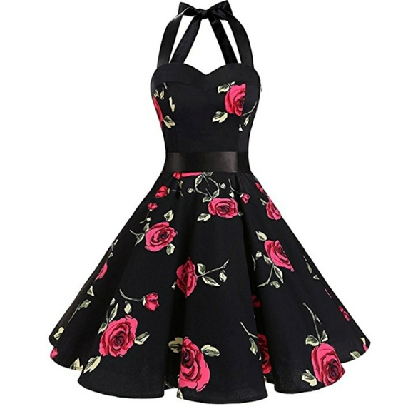 309364a2aba 1950 s style vintage cocktail swing dress